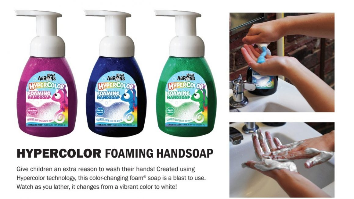 Crazy Aaron's 'Clean With Color' Soap and Hand Sanitizer Line