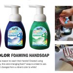 Clean with Color Hand Soap brought to by Crazy Aaron's!