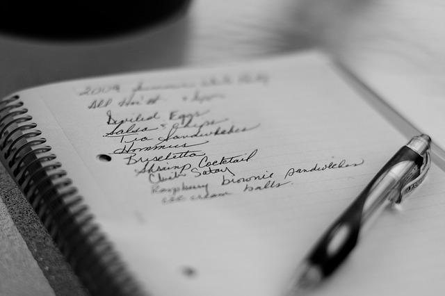 grocery list