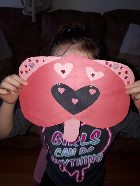 Heart Puppy Dog Paper Craft