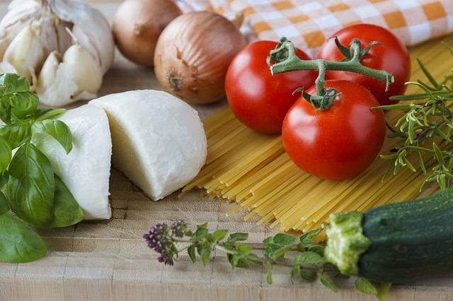 Tomatoes and mozzarella
